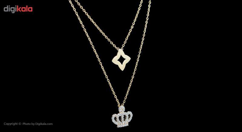 گردنبند طلا 18 عیار ماهک مدل MM0673
