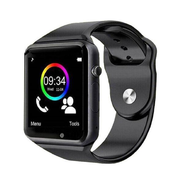 ساعت هوشمند درتا  دور نقره ای بند مشکی  مدل 2018
