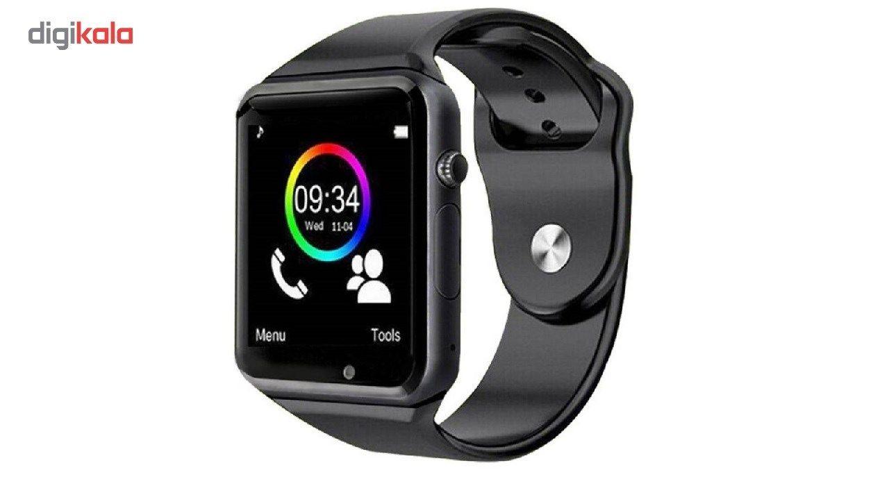 ساعت هوشمند درتا  دور نقره ای بند مشکی  مدل 2018 main 1 1