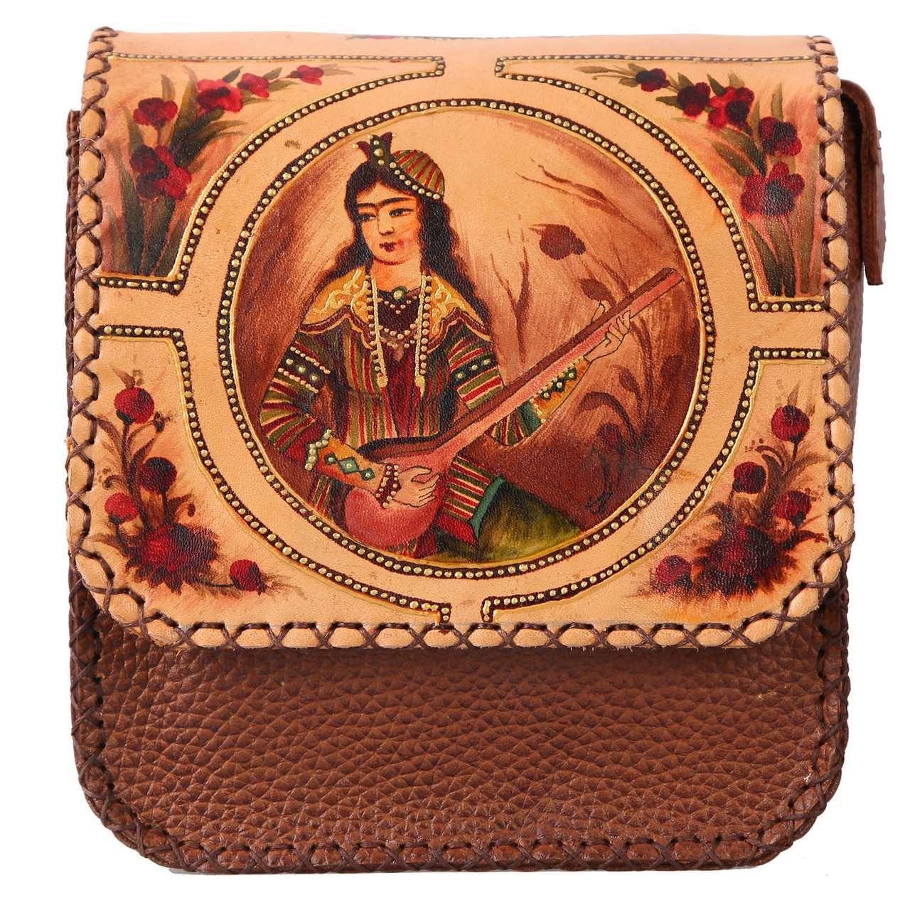 کیف دوشی گالری دیبا طرح قاجار کد 178020
