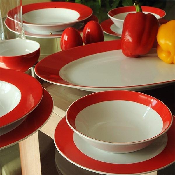 سرویس چینی 28 پارچه غذاخوری چینی زرین ایران سری ایتالیا اف مدل Gilas 2 درجه عالی