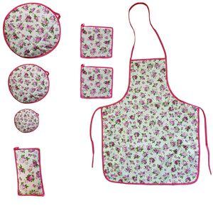 سرویس آشپزخانه 7 تکه ژاو مدل Pink Rose