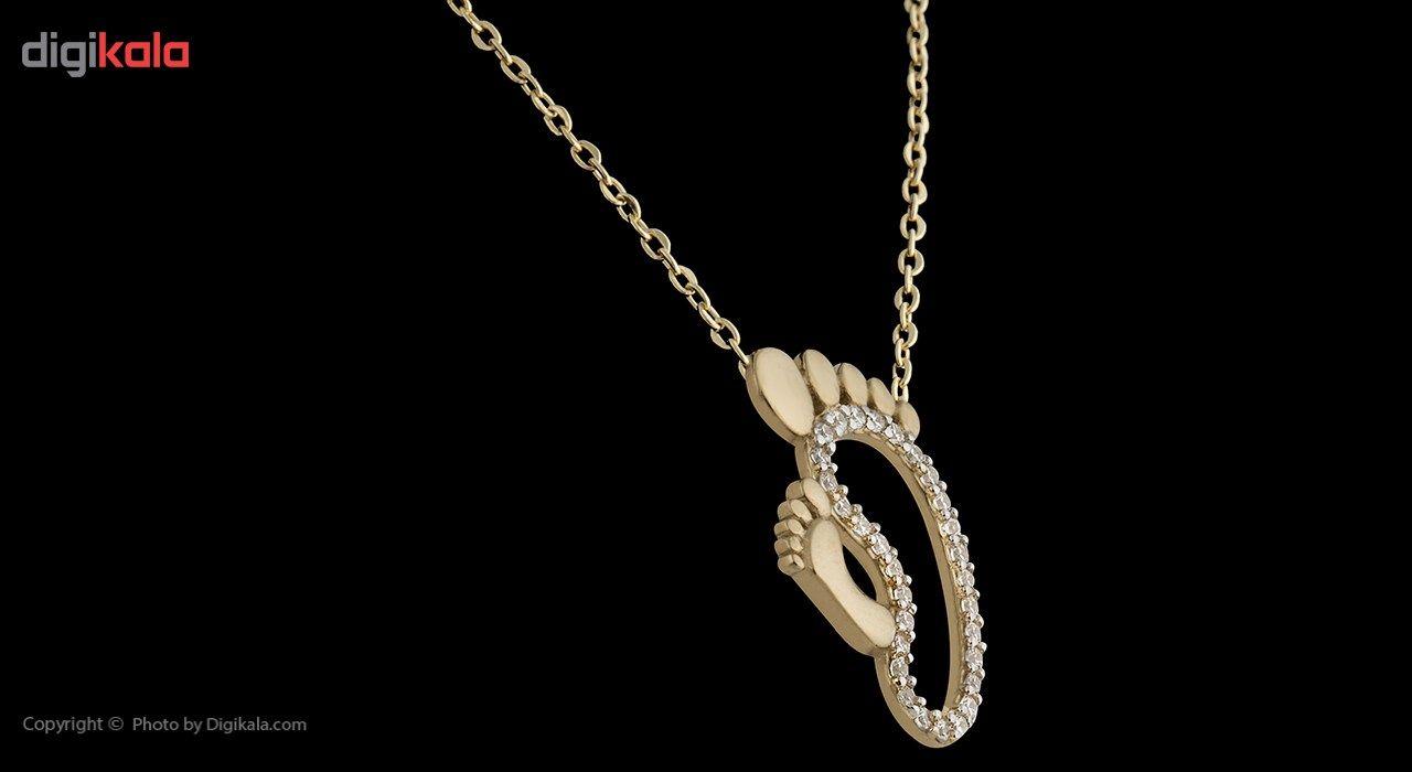 گردنبند طلا 18 عیار ماهک مدل MM0495 - مایا ماهک -  - 3