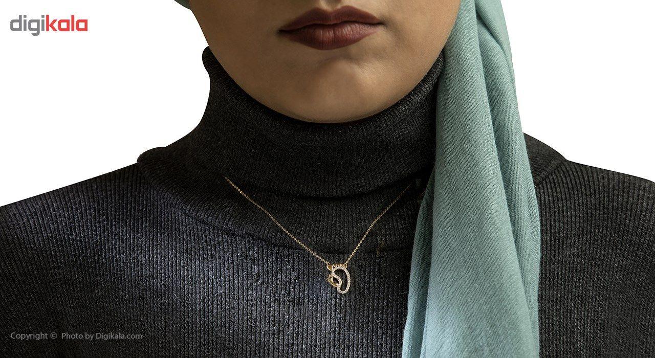 گردنبند طلا 18 عیار ماهک مدل MM0495 - مایا ماهک -  - 4