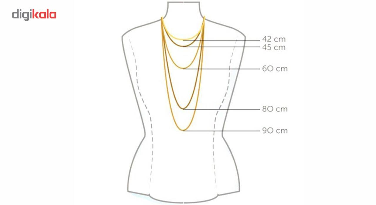 گردنبند طلا 18 عیار ماهک مدل MM0495 - مایا ماهک -  - 2