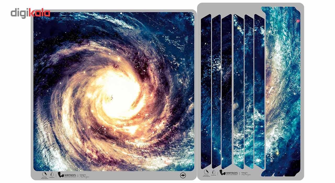 برچسب افقی پلی استیشن 4 پرو ونسونی طرح Andromeda Galaxy