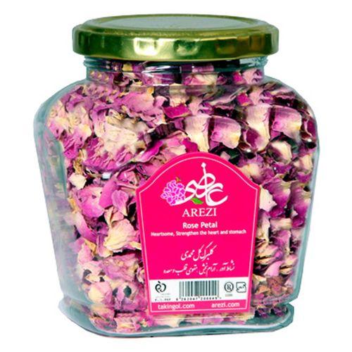 دمنوش گلبرگ گل محمدی عارضی  بسته بندی شیشه ای مدل Rose Petal Aromatic