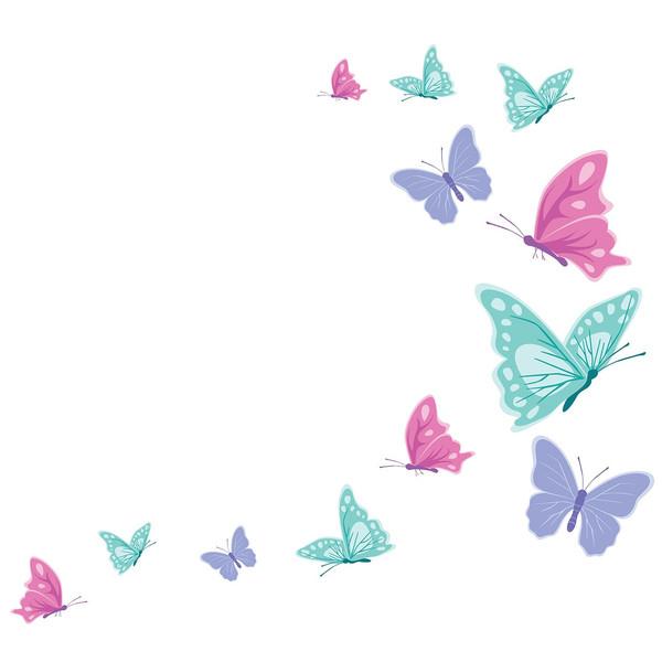 استیکر سالسو طرح پروانه های رنگی