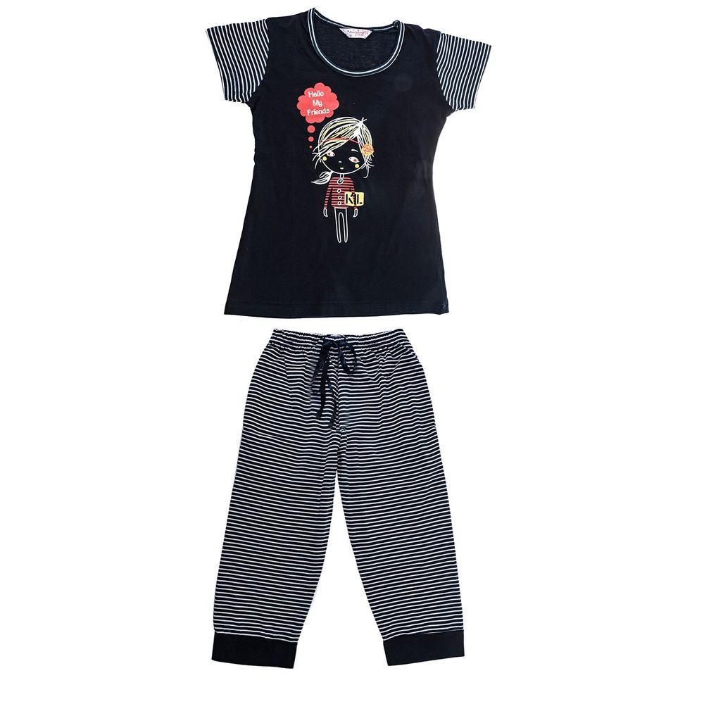 تی شرت و شلوارک دخترانه آنجلینا مدل 5467