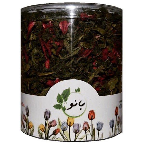 قوطی دمنوش ترکیبی بانو مدل چای سبز و چای ترش
