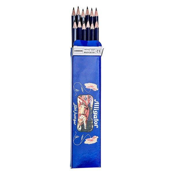 مداد مشکی سوسمار نشان - بسته 12 عددی