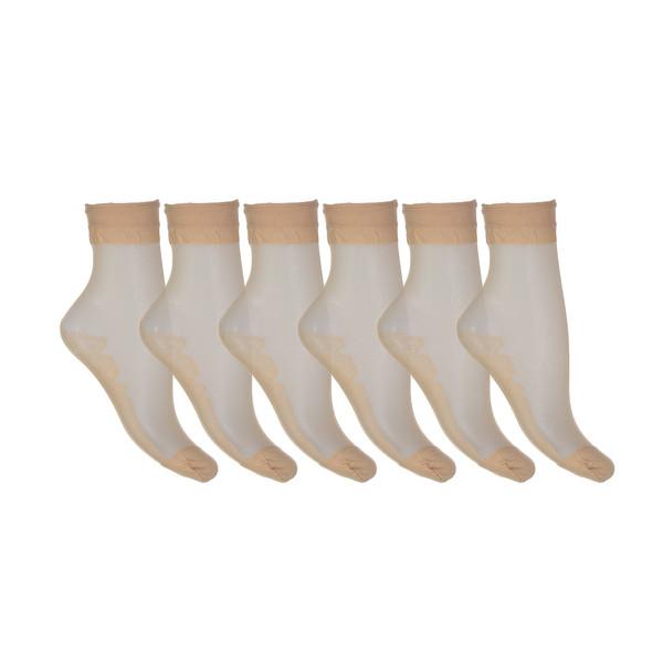 جوراب زنانه شیشه ای بسته 6 جفتی شهر شیک مدل CL892