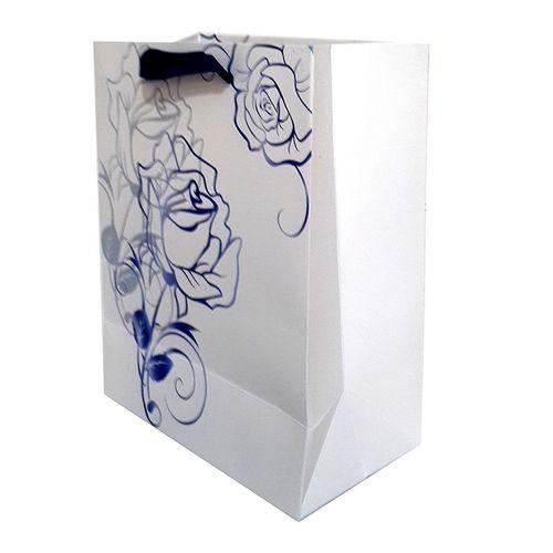 پاکت هدیه عمودی طرح گل آبی