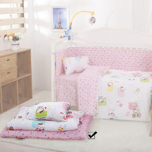 سرویس نوزادی 3 تکه طرح HELLO KITTY AND SQUARE   اسلیپی