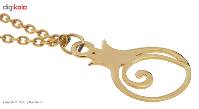 آویز ساعت طلا 18 عیار ماهک مدل MW0071