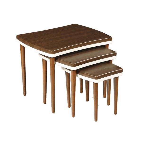 میز عسلی سهیل کد 0058GRT مجموعه سه عددی