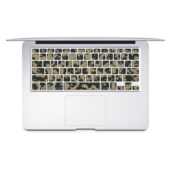 برچسب تزئینی کیبورد ونسونی مدل Abstract Camouflage به همراه حروف فارسی مناسب برای مک بوک