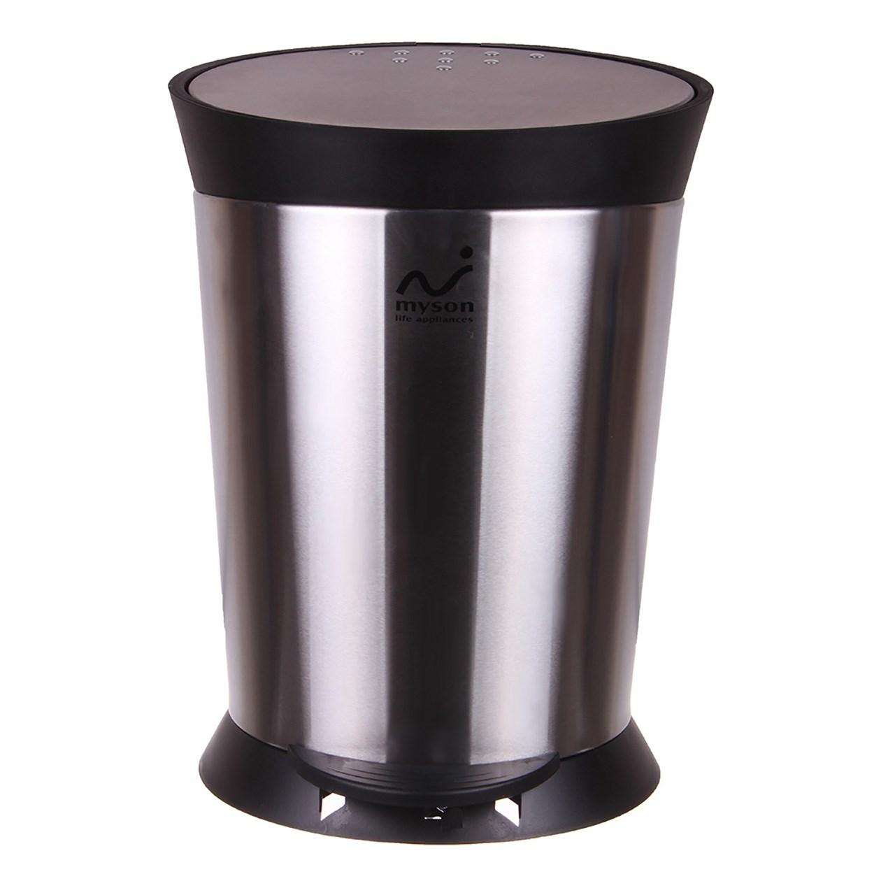 سطل زباله استیل مایسان مدل MSP-14LS گنجایش 14 لیتری
