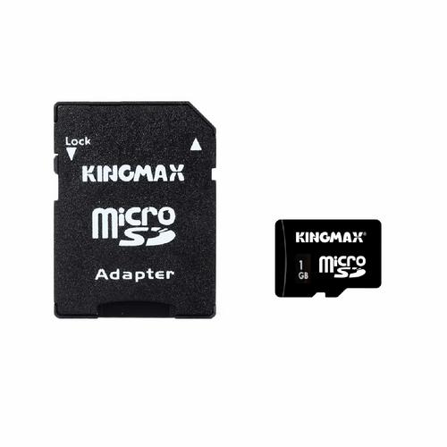 کارت حافظه microSD کینگ مکس به همراه آداپتور SD ظرفیت 1 گیگابایت