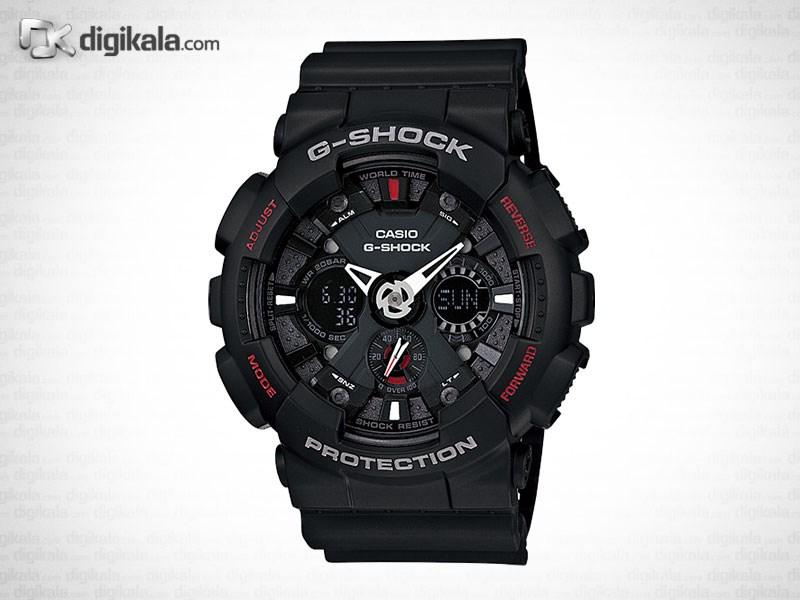 خرید ساعت مچی عقربه ای مردانه کاسیو جی شاک GA-120-1ADR | ساعت مچی