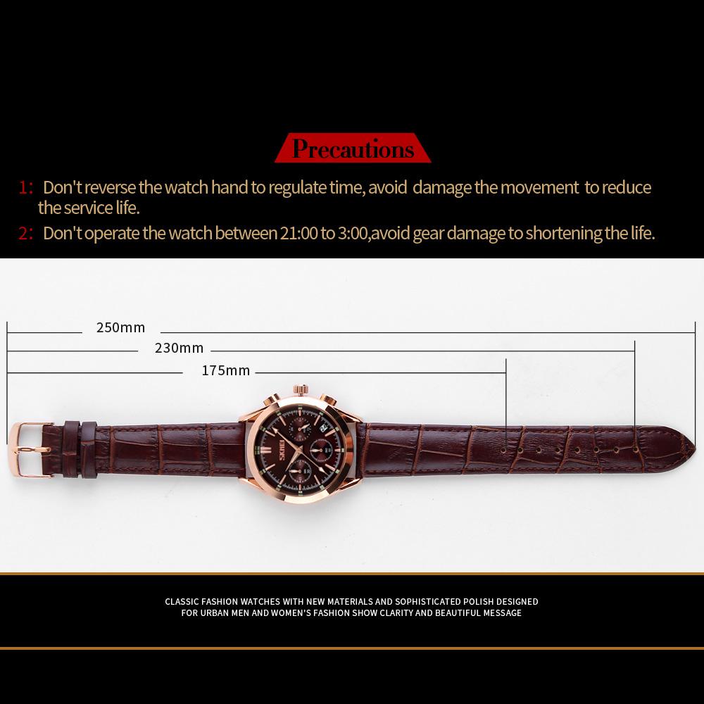 ساعت مچی عقربه ای مردانه اسکمی مدل 9127GH-NP -  - 4