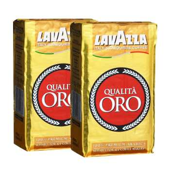 بسته قهوه لاواتزا مدل Oro مجموعه 2 عددی