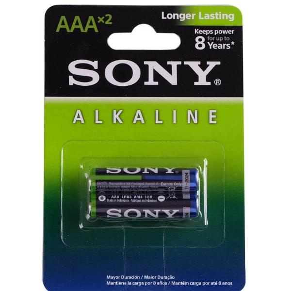 باتری نیم قلمی سونی مدل Alkaline بسته 2 عددی