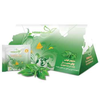 دمنوش گیاهی هرباسان مدل چای سبز بسته 20 عددی