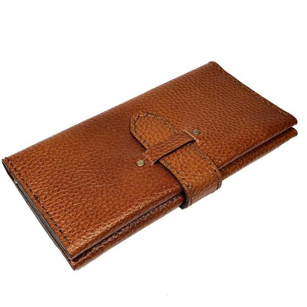 کیف پول چرم دستدوز  گلیما مدل 223