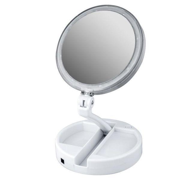 آینه  آرایشی Foldaway  مدل چراغ دار با قابلیت بزرگنمایی