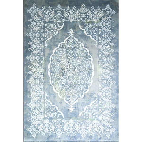 فرش ماشینی مهتاب پارسیان طرح صوفیا زمینه آبی