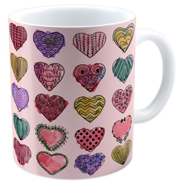 ماگ شین دیزاین طرح قلب کد 4088