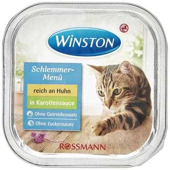 کنسرو غذای گربه وینستون مدل mit huhn in karottensauce وزن 100گرم