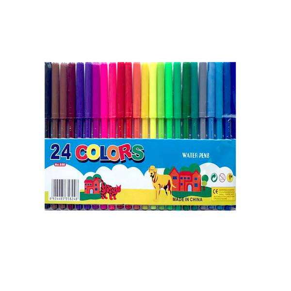 ماژیک رنگ آمیزی 24 رنگ کد 858