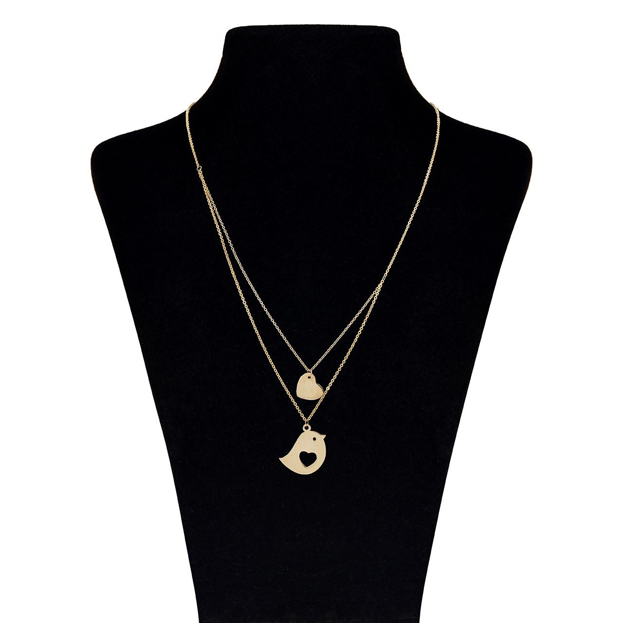 قیمت گردنبند طلا 18 عیار ماهک مدل MM0611 - مایا ماهک
