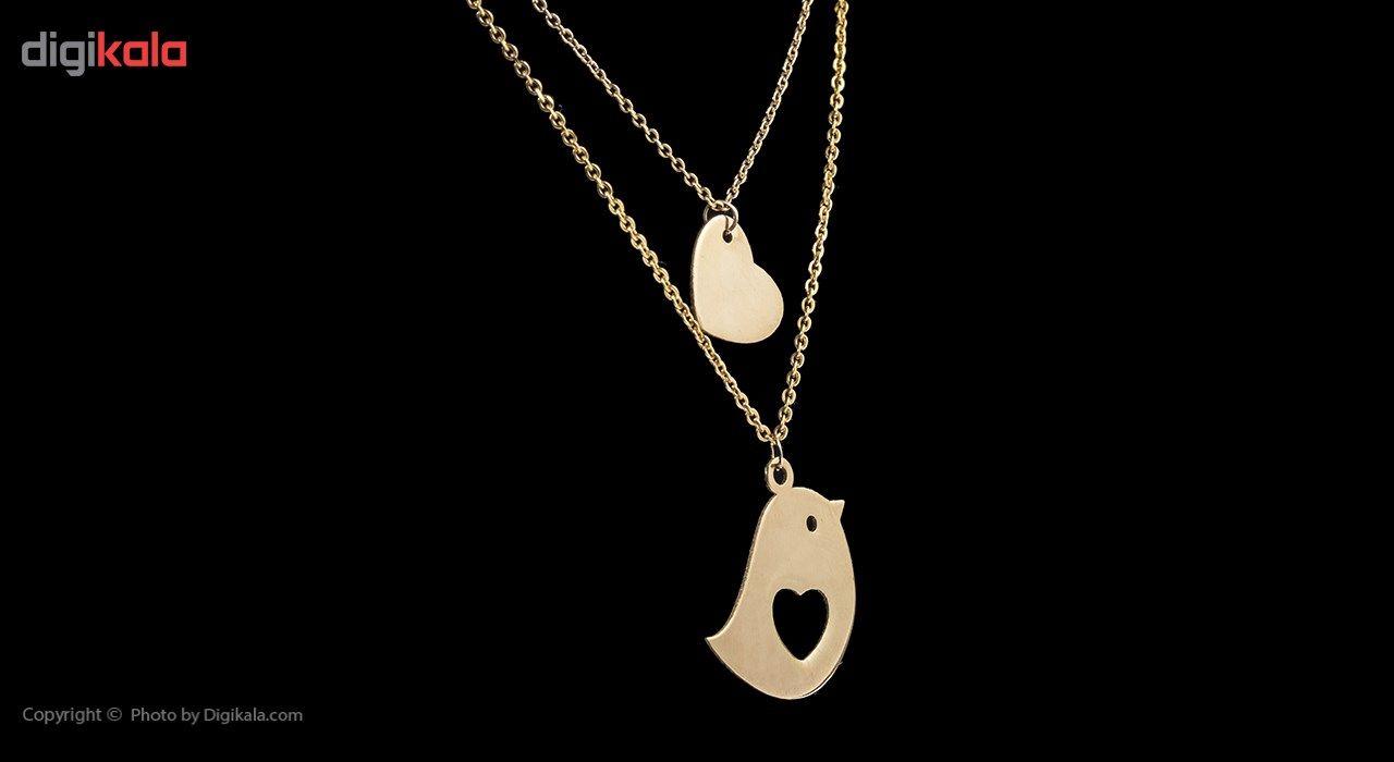 گردنبند طلا 18 عیار ماهک مدل MM0611 - مایا ماهک -  - 3