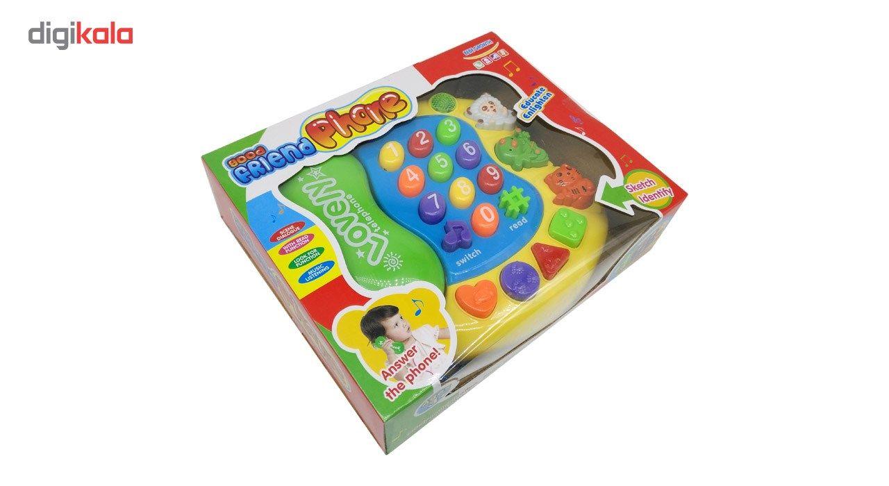 اسباب بازی آموزشی کیدتونز مدل تلفن کد KTF-001 main 1 3