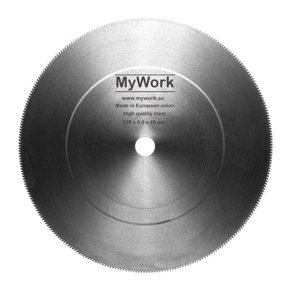 تیغه اره دیسکی آتشی  100%محصول چک به ابعاد  MYWORK 520 x 4 x 40 mm