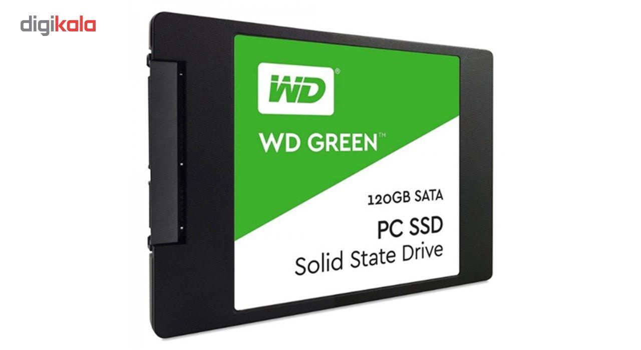 اس اس دی اینترنال وسترن دیجیتال مدل Green PC WDS120G2G0A ظرفیت 120 گیگابایت main 1 2