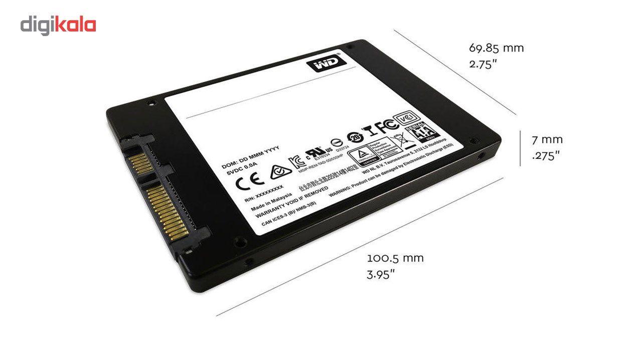 اس اس دی اینترنال وسترن دیجیتال مدل Green PC WDS120G2G0A ظرفیت 120 گیگابایت main 1 3