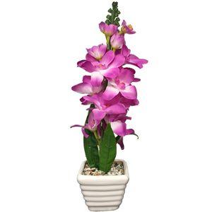 گلدان به همراه گل مصنوعی کارا مدل12048