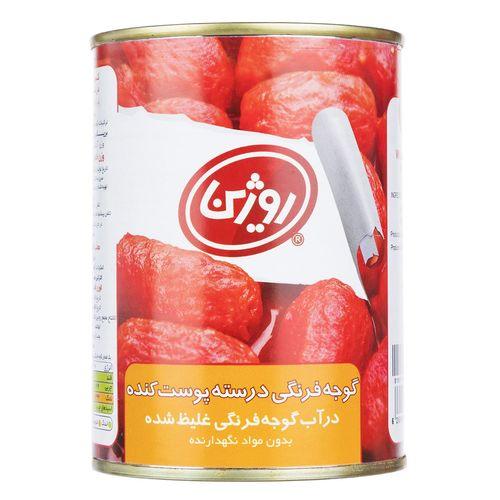 کنسرو گوجه فرنگی پوست کنده روژین تاک مقدار 380 گرم