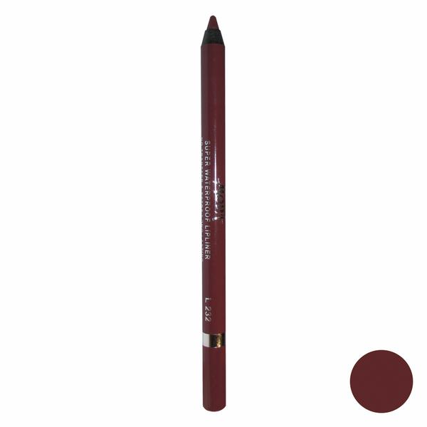 مداد لب مودا مدل super waterproof lipliner شماره L232