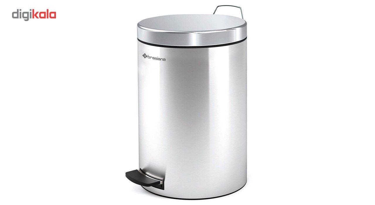 سطل زباله پدالی براسیانا ظرفیت 12 لیتر - کد615 main 1 1