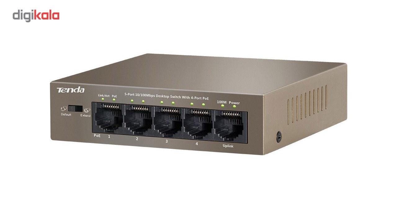 سوییچ 5 پورت 10/100 Mbps  تندا مدل TEF1105P-4-63W