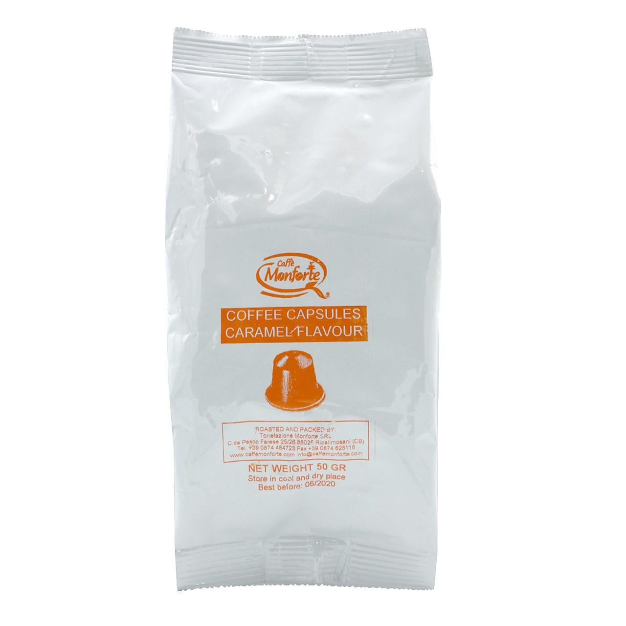 کپسول قهوه اسپرسو کافه مونفورته مدل Caramel Flavour