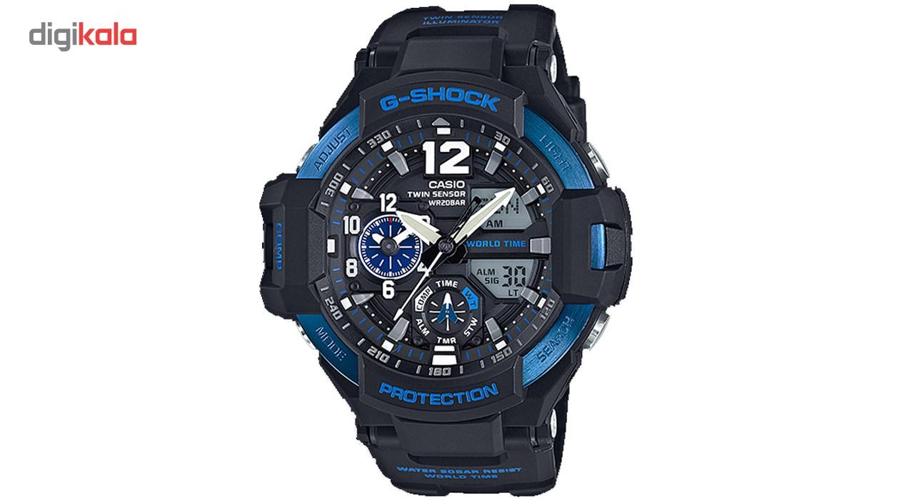 خرید ساعت مچی عقربه ای مردانه کاسیو جی شاک مدل GA-1100-2BDR