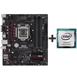 مادربرد ایسوس مدل B85M-GAMER همراه با پردازنده مرکزی اینتل مدل Haswell Core i3-4160