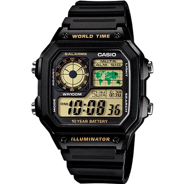 ساعت مچی دیجیتالی کاسیو AE-1200WH-1BVDF 44