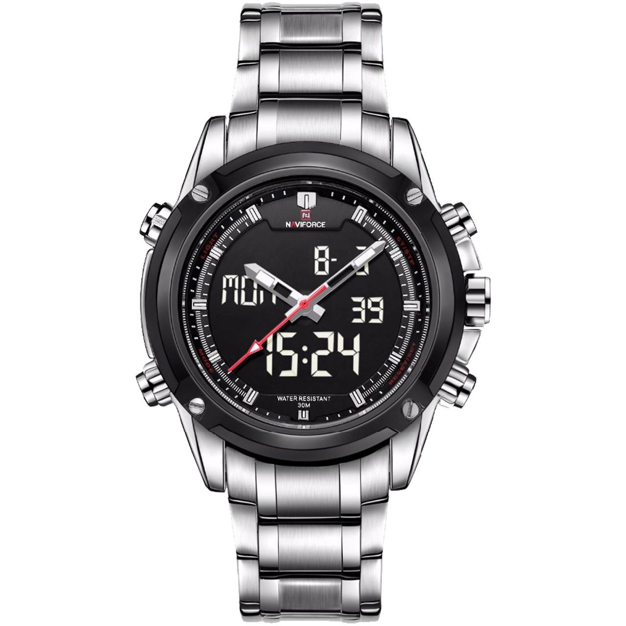 ساعت مچی عقربه ای مردانه نیوی فورس مدل NF9050M/SBW